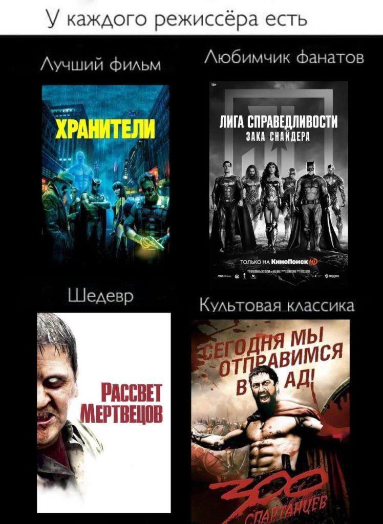 Топ фильмов Зака Снайдера: от худшего к лучшему